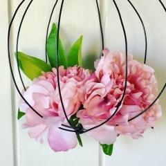 Boule porta fiori in filo di ferro
