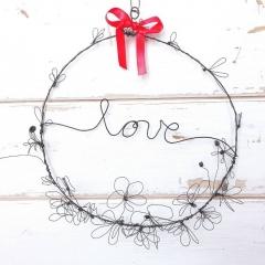 Cerchio dell'Amore in filo di ferro ricotto