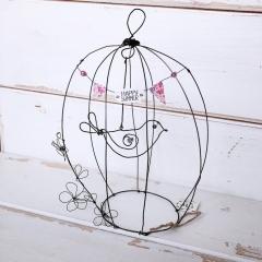 Cage aux oiseaux in filo di ferro ricotto