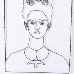 Frida Kahlo by Wireartlover in filo di ferro e argento - Artista Giulia Della Sala