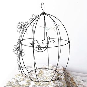 Gabbietta con uccellino in filo di ferro - Bird cage Wireartlover