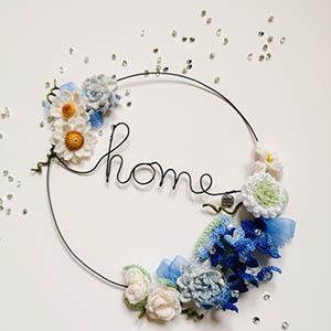 """Cerchio """"Home"""" in filo di ferro,  Wireartlover"""