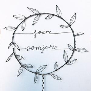 """Cake Topper Matrimonio """"Per sempre"""" in filo di ferro Wireartlover"""